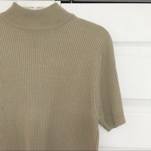 Vintage | Ribbed Short Sleeve Turtleneck